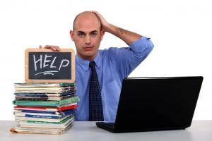 stressed man - help