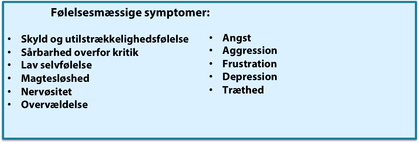 foelelsesmaessige- stress symptomer