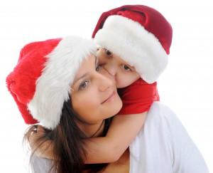 Dreng og mor jul